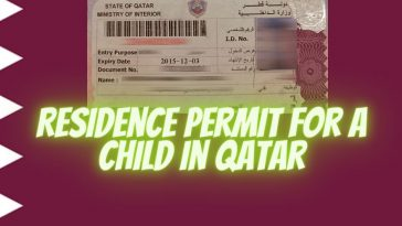 Residence Permit for a child in Qatar